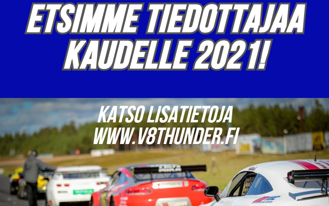 V8 Thunder Ry Tiedottajahaku 2021